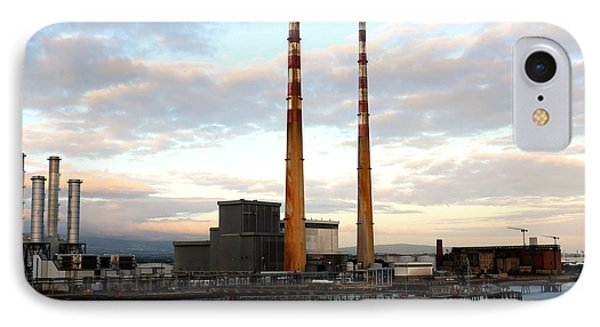 Dublin's Poolbeg Chimneys IPhone Case by Lexa Harpell