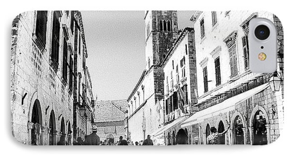 #dubrovnik #b&w #edit IPhone Case by Alan Khalfin