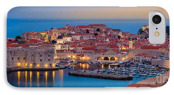 Dubrovnik Twilight Panorama IPhone Case by Inge Johnsson