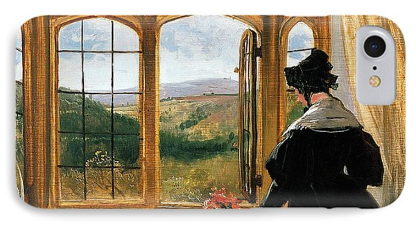 Duchess Of Abercorn Looking Out Of A Window IPhone Case by Sir Edwin Landseer