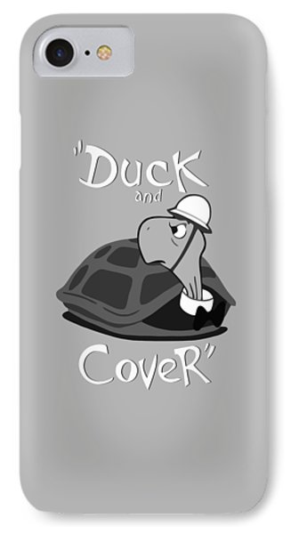 Duck And Cover - Vintage Nuclear Attack Poster IPhone Case