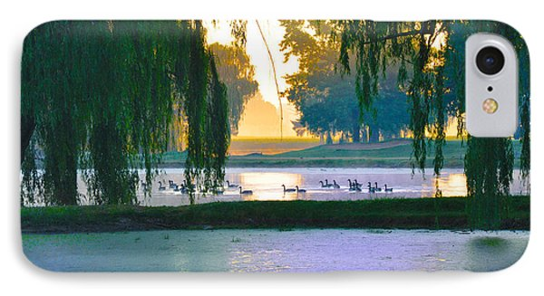 Duck Pond At Dawn Phone Case by Bill Cannon
