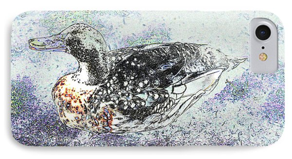 IPhone Case featuring the photograph Duck With Fine Plumage by Nareeta Martin