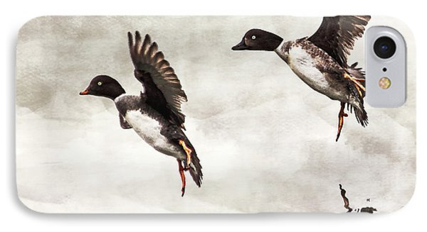 Ducks Landing On The Lake IPhone Case