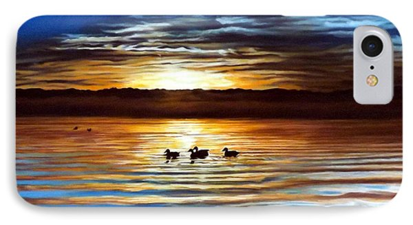 Ducks On Clear Lake IPhone Case by Linda Becker