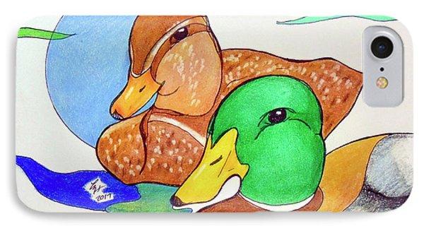 Ducks2017 Phone Case by Loretta Nash
