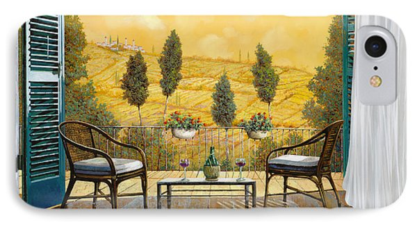 due bicchieri di Chianti IPhone Case by Guido Borelli