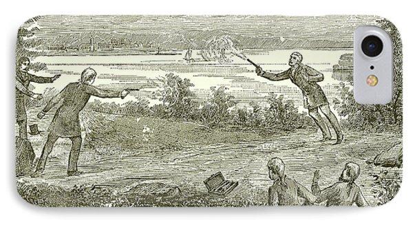 Duel Between Alexander Hamilton And Aaron Burr IPhone Case by American School