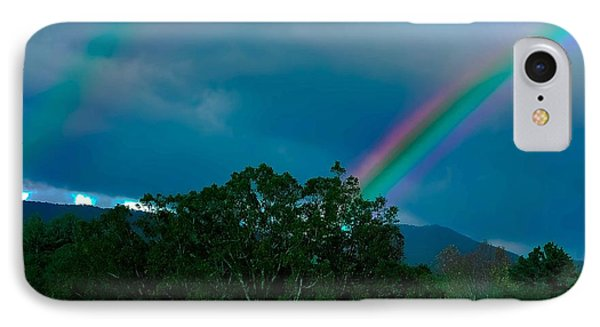 Dueling Rainbows Phone Case by DigiArt Diaries by Vicky B Fuller