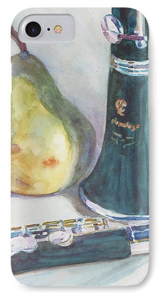 Duet For A Pear IPhone Case by Jenny Armitage
