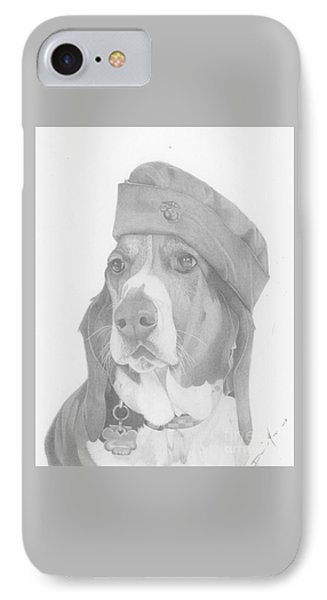 Duke Dog Drawing IPhone Case