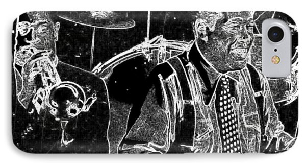 IPhone Case featuring the mixed media Duke Ellington by Charles Shoup