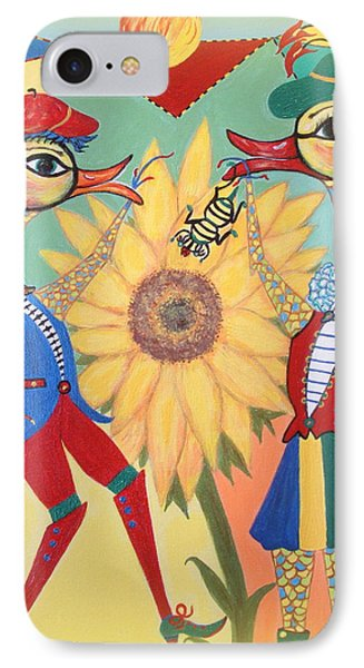IPhone Case featuring the painting Duke Have A Honey-bee by Marie Schwarzer