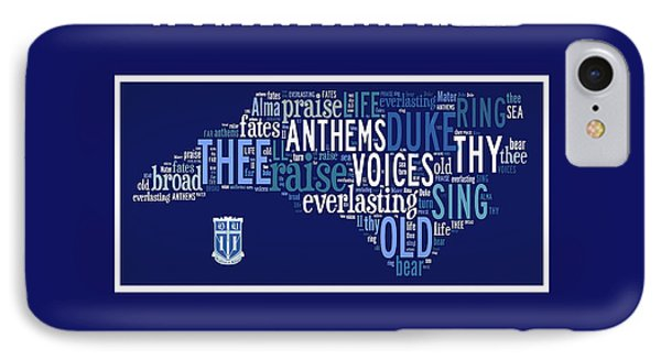 Duke University Alma Mater Products IPhone Case by Paulette B Wright