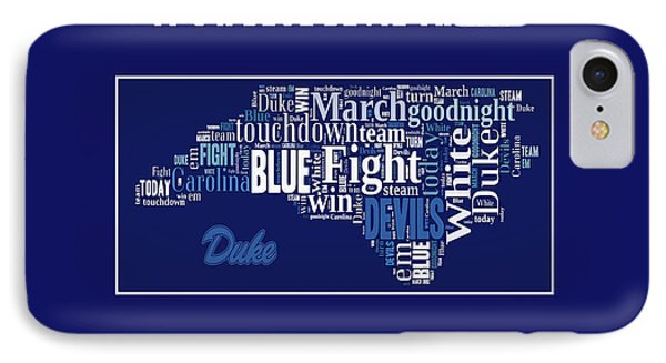 Duke University Fight Song Products IPhone Case by Paulette B Wright