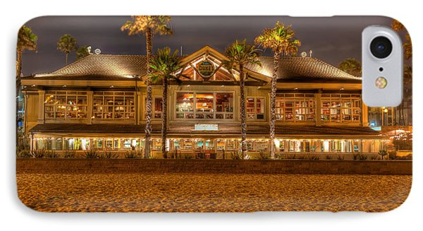 IPhone Case featuring the photograph Duke's Restaurant Huntington Beach - Back by Jim Carrell