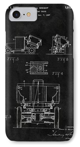 Dump Truck Patent IPhone Case by Dan Sproul