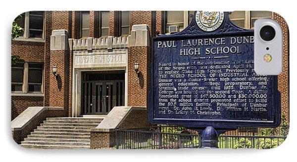 Dunbar High School - Little Rock IPhone Case by Stephen Stookey