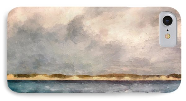 Dunes Of Lake Michigan With Rough Seas IPhone Case