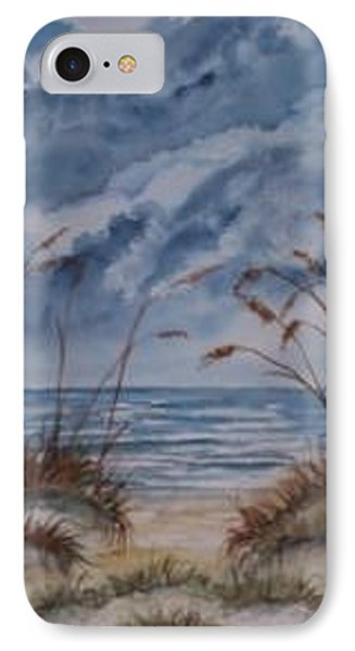 Dunes Seascape Fine Art Poster Print Seascape Phone Case by Derek Mccrea