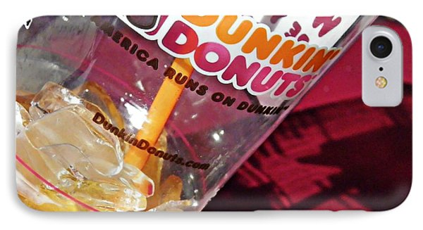 Dunkin Ice Coffee 29 IPhone Case by Sarah Loft