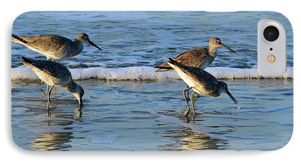 Dunking Willets IPhone Case by Bruce Gourley
