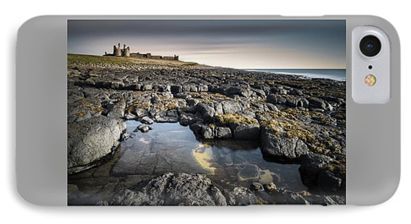 Dunstanburgh Castle IPhone Case by Dave Bowman