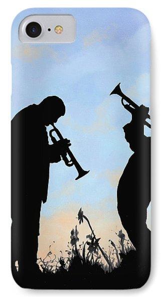 Trumpet iPhone 7 Case - duo by Guido Borelli