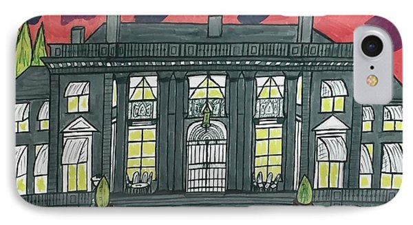 IPhone Case featuring the painting Dupont Family Mansion. by Jonathon Hansen