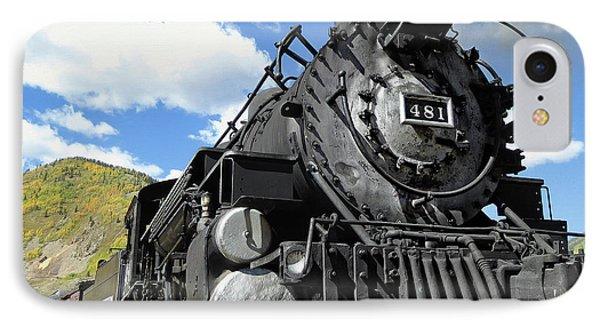 Durango Silverton Locomotive 481 - Pride Of Colorado IPhone Case