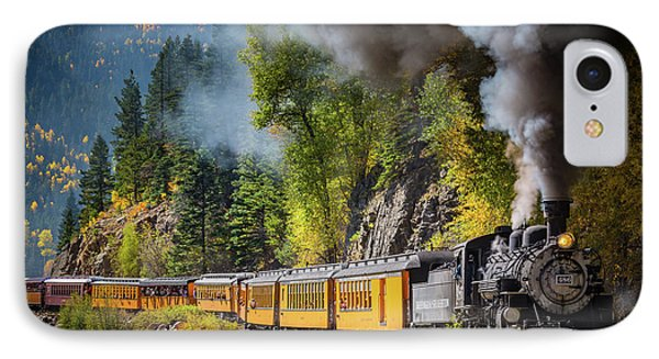 Train iPhone 7 Case - Durango-silverton Narrow Gauge Railroad by Inge Johnsson