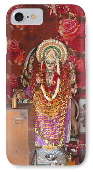 Durga At Neem Karoli Baba Ashram, Vrindavan IPhone Case