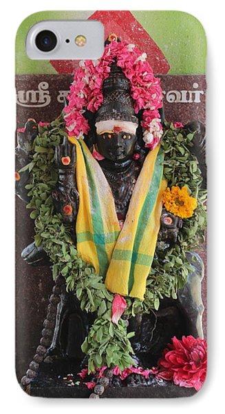 Durga At The Devi Temple, Leaving Kodaikanal IPhone Case
