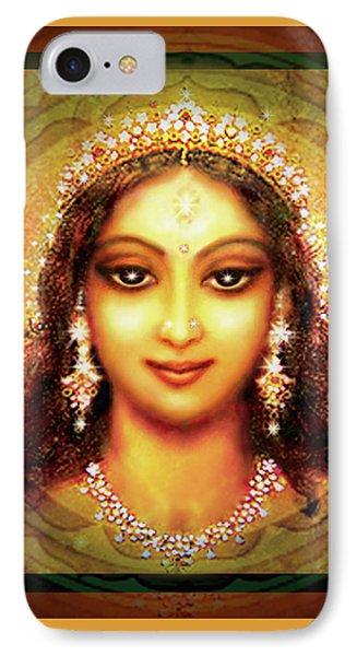 Durga In The Sri Yantra IPhone Case by Ananda Vdovic