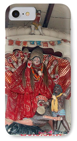 Durga On The Yamuna, Vrindavan IPhone Case