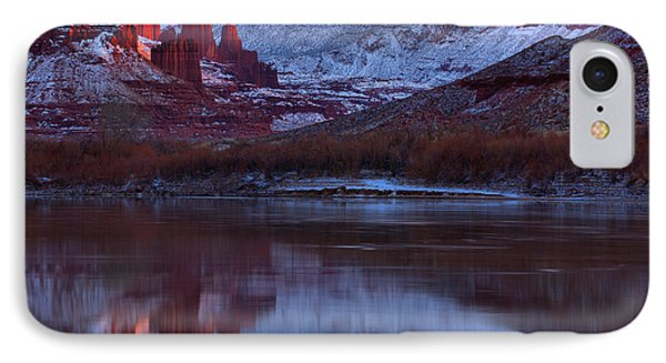 IPhone Case featuring the photograph Dusk At Fisher Towers by Adam Jewell