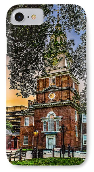 Dusk At Independence Hall IPhone Case