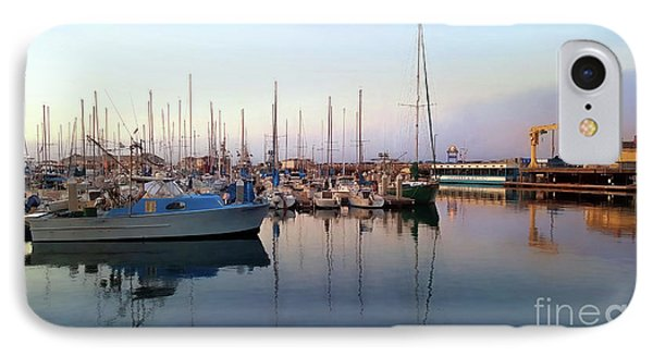 Dusk At Old Fisherman's Wharf IPhone Case by Gina Savage