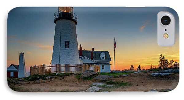 Dusk At Pemaquid Point IPhone Case by Rick Berk