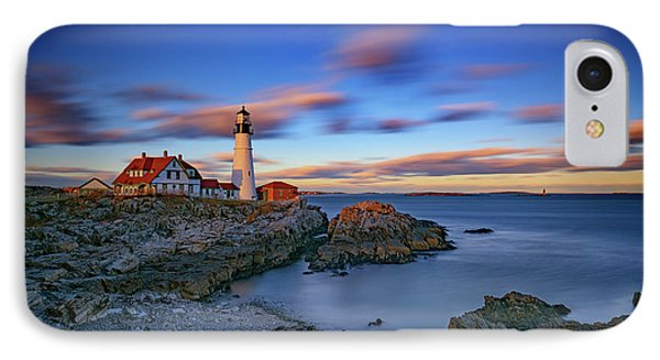 Dusk At Portland Head Lighthouse IPhone Case by Rick Berk