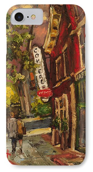 Dusk In Downtown IPhone Case by Carole Foret