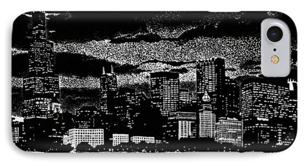 Dusk In The Windy City IPhone Case by Samuel Beckman