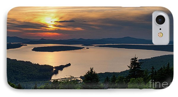 IPhone Case featuring the photograph Dusk, Mooselookmeguntic Lake, Rangeley, Maine -63362-63364 by John Bald