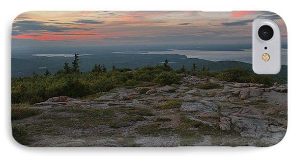 IPhone Case featuring the photograph Dusk On Cadillac Ountain by Stephen  Vecchiotti