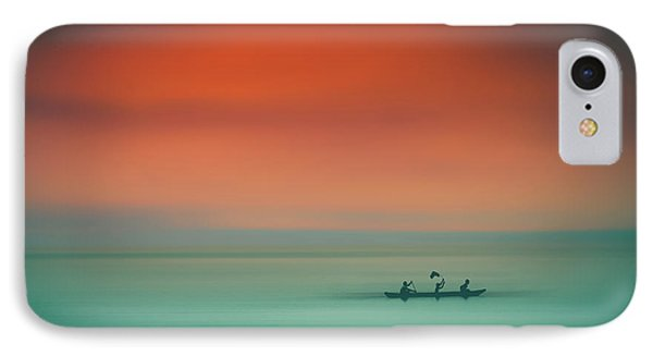 Dusk On The Lake Phone Case by Marji Lang