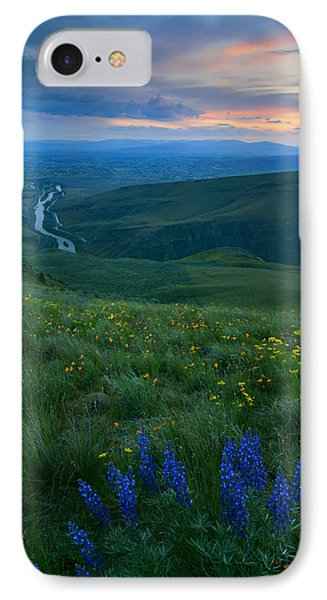 Dusk Over The Yakima Valley IPhone Case by Mike  Dawson