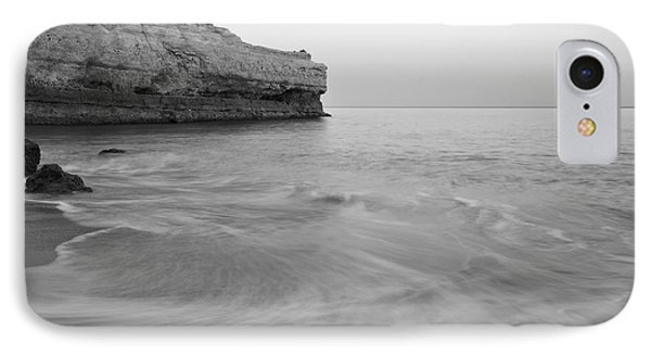 Dusk Waves In Albandeira Beach. Monochrome IPhone Case by Angelo DeVal