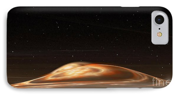 IPhone Case featuring the digital art Dust Storm On The Red Planet by Richard Ortolano