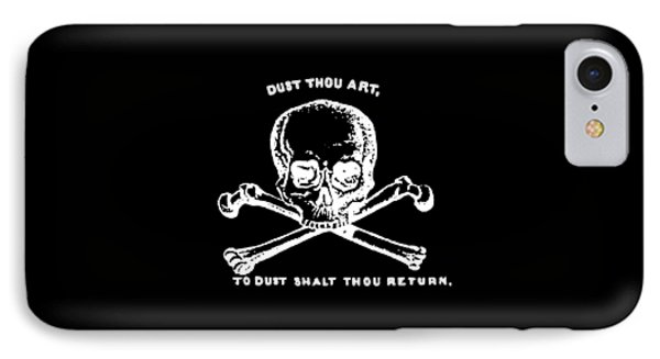 Dust To Dust Tee White Ink IPhone Case by Edward Fielding