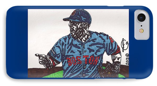 Dustin Pedroia 2 IPhone Case by Jeremiah Colley